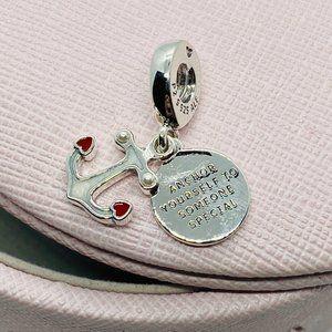 PANDORA Anchor & Hearts Dangle Charm